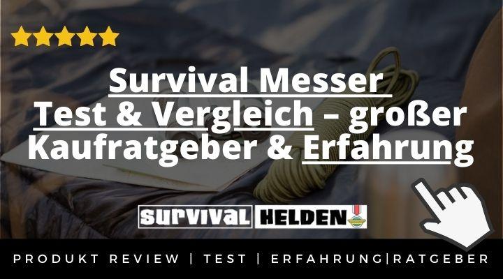 Survival Messer Test & Vergleich – großer Kaufratgeber & Erfahrung 2020